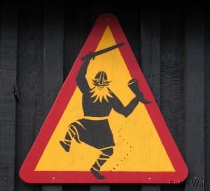 Attention traversée de Viking bourré