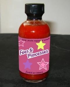 Fées et princesses : 25% licorne (ou lasagne), 50% poudre magique et 25% piment
