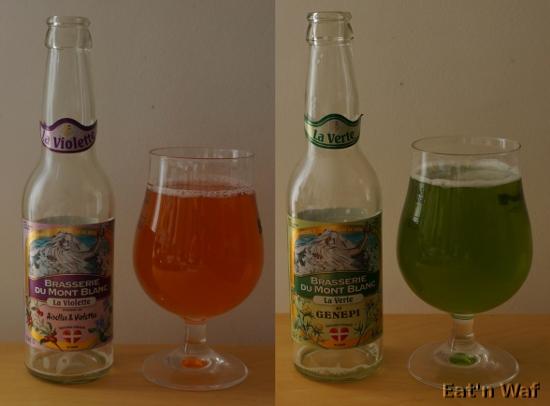 Vert et orangé et pourtant c'est bien des bières