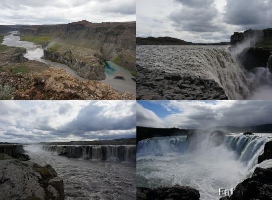 Hafragilsfoss, Dettifoss, Selfoss, Goðafoss