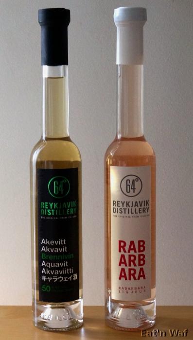 Brennivín à 50% et liqueur de rhubarbe