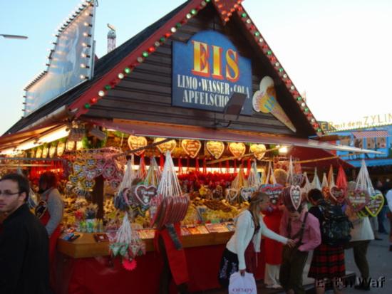 Vendeur de sucreries et de cœurs en pain d'épice