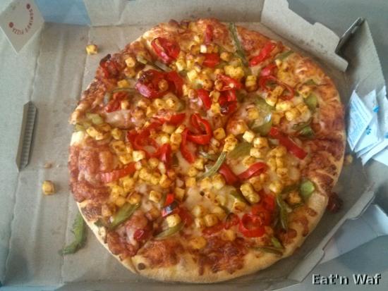 Pizza peppy paneer : piment, poivron et paneer frit