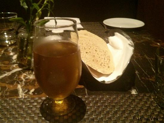 Bière et papadum