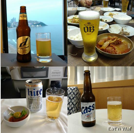 Quelques bières coréennes