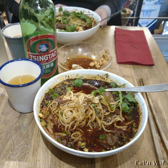 Soupe de nouilles au bœuf sichuanaise